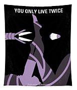No277-007 My You Only Live Twice Minimal Movie Poster Tapestry