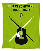 No286 My There's Something About Mary Minimal Movie Poster Tapestry