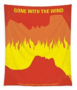 No299 My Gone With The Wind Minimal Movie Poster Tapestry