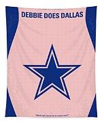 No302 My Debbie Does Dallas Minimal Movie Poster Tapestry