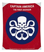 No329 My Captain America - 1 Minimal Movie Poster Tapestry