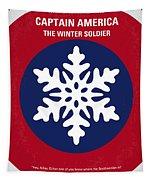 No329 My Captain America - 2 Minimal Movie Poster Tapestry