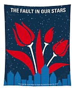 No340 My The Fault In Our Stars Minimal Movie Poster Tapestry