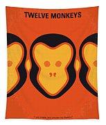 No355 My 12 Monkeys Minimal Movie Poster Tapestry
