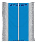 No407 My Need For Speed Minimal Movie Poster Tapestry