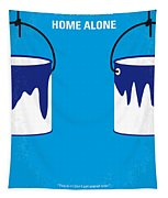 No427 My Home Alone Minimal Movie Poster Tapestry