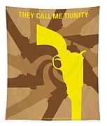 No431 My They Call Me Trinity Minimal Movie Poster Tapestry