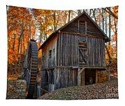 North Carolina Grist Mill Photo Tapestry