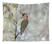 Northern Flicker Woodpecker Tapestry