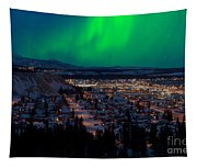 Northern Lights Over Whitehorse Tapestry