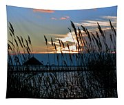 Ocean City Sunset At Northside Park Tapestry
