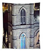 Notre Dame De Montreal At Night Tapestry