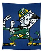 Notre Dame Fighting Irish Leprechaun Vintage Indiana License Plate Art  Tapestry by Design Turnpike