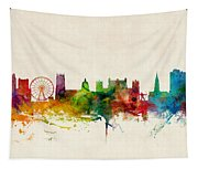 Nottingham England Skyline Tapestry