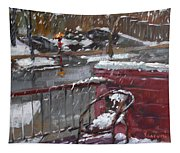 First Snowfall Nov 17 2014 Tapestry
