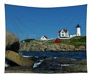 Nubble Light House York Beach Maine Tapestry