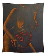 Nude In Darkness Tapestry