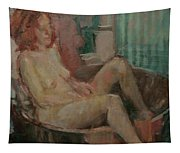 Nude In Old Tub, 2008 Oil On Canvas Tapestry