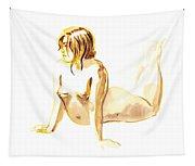Nude Model Gesture Iv Tapestry