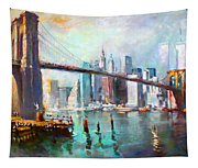 Ny City Brooklyn Bridge II Tapestry