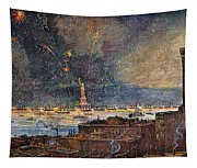 Ny: Statue Of Liberty, 1886 Tapestry