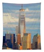 Ny Sundown One World Trade  Tapestry
