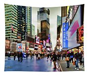Ny Times Square Impressions I Tapestry