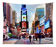 Ny Times Square Impressions IIi Tapestry