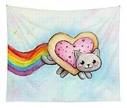 Nyan Cat Valentine Heart Women's V-Neck