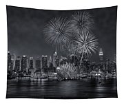 Nyc Celebrate Fleet Week Bw Tapestry