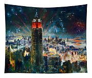 Nyc In Fourth Of July Independence Day Tapestry