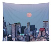 Nyc Pastel Supermoon Tapestry