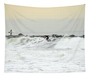 Nyc Surfing Area Tapestry