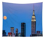 Nyc Under The Supermoon Tapestry