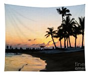 Oahu Sunset Tapestry