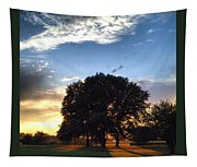 Oak Tree At The Magic Hour Tapestry
