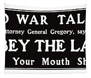 Obey The Law Keep Your Mouth Shut Tapestry