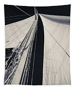 Obsession Sails 2 Black And White Tapestry