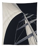 Obsession Sails 5 Black And White Tapestry