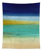 Ocean Blue 3- Art By Linda Woods Tapestry