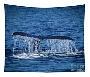 Ocean Dive Of The Humpback Whale Tapestry