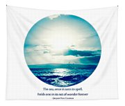 Ocean Pure Blue Tapestry