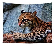 Ocelot Painted Tapestry