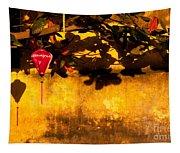 Ochre Wall Silk Lantern 01 Tapestry