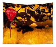 Ochre Wall Silk Lantern 02 Tapestry