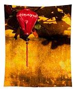 Ochre Wall Silk Lantern 03  Tapestry