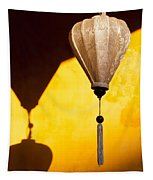 Ochre Wall Silk Lanterns  Tapestry