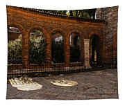 Of Courtyards And Elegant Arches  Tapestry