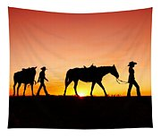 Off To The Barn Tapestry