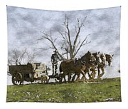 Off To The Field Tapestry